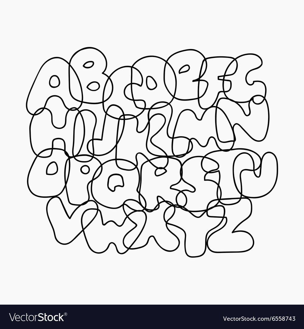 Funny Wire Alphabet vector image