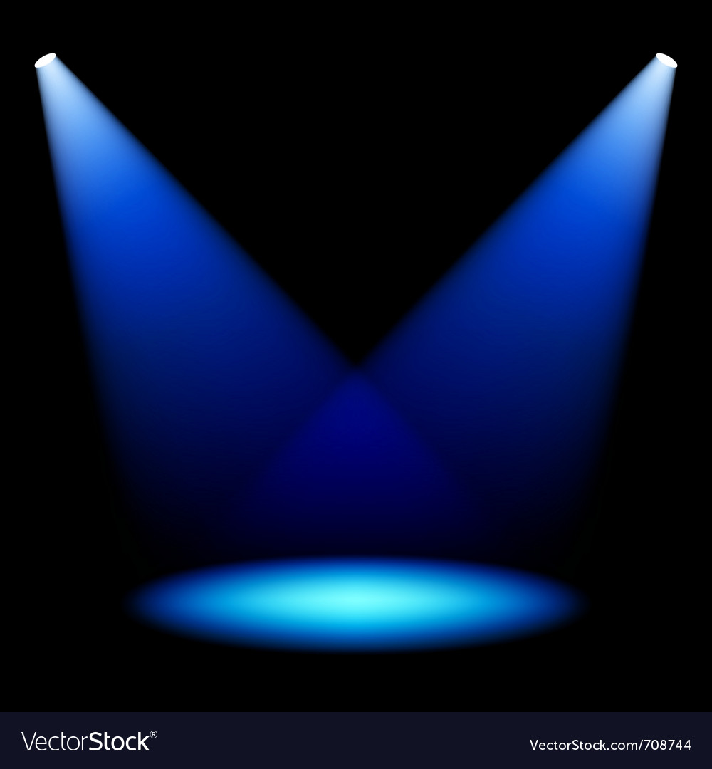 Stage spotlights vector image