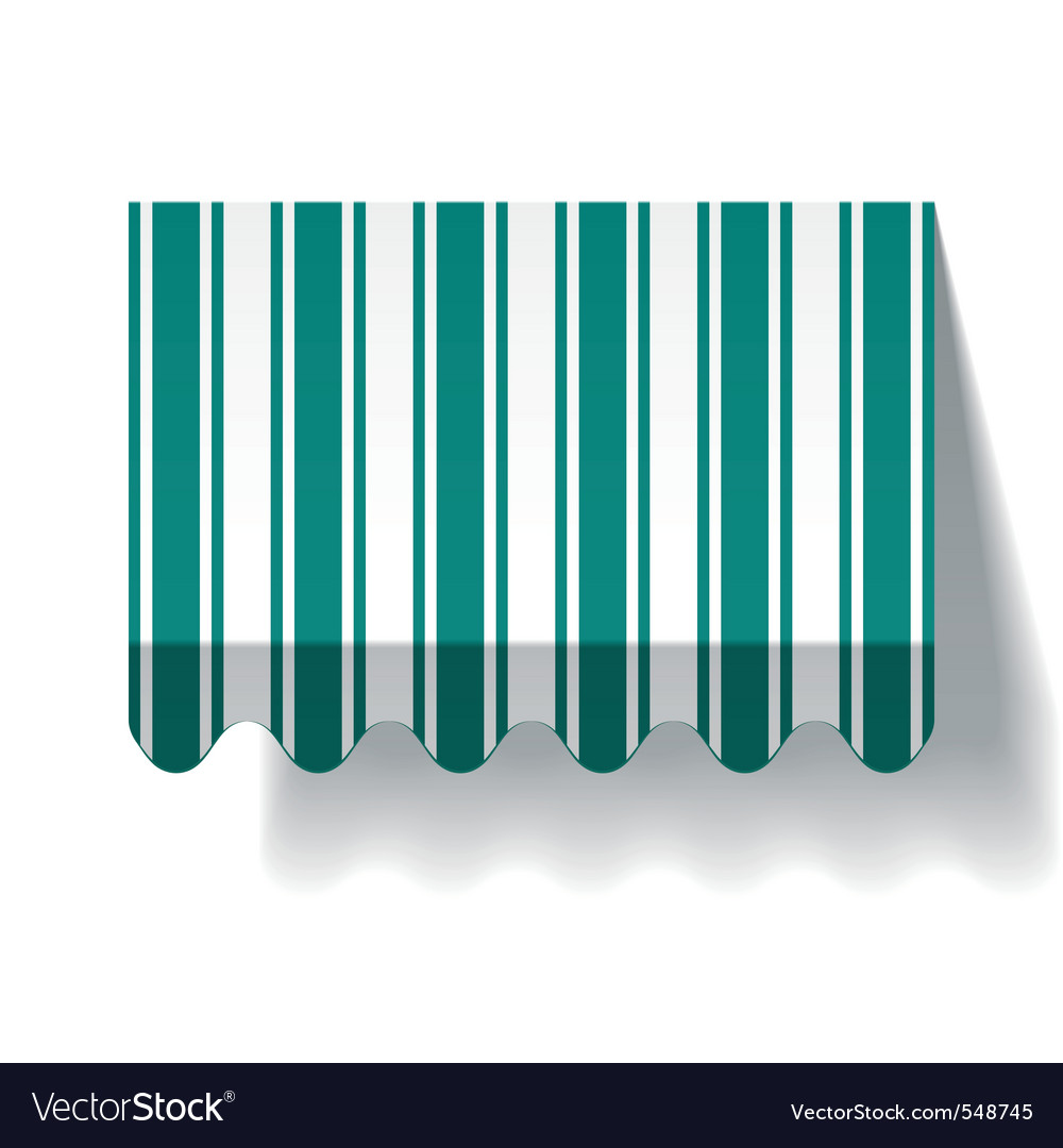 Drop awning vector image