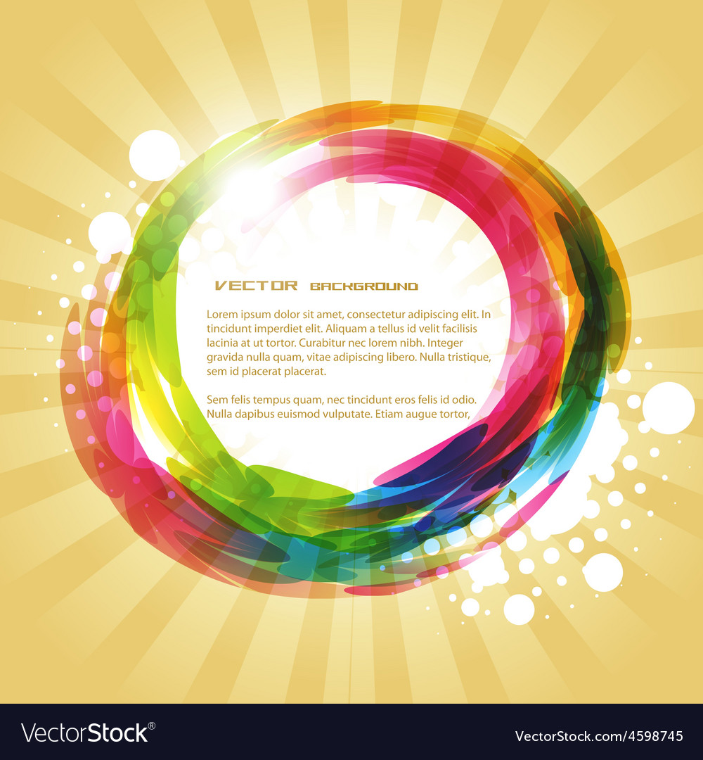 Abstract shape vector image