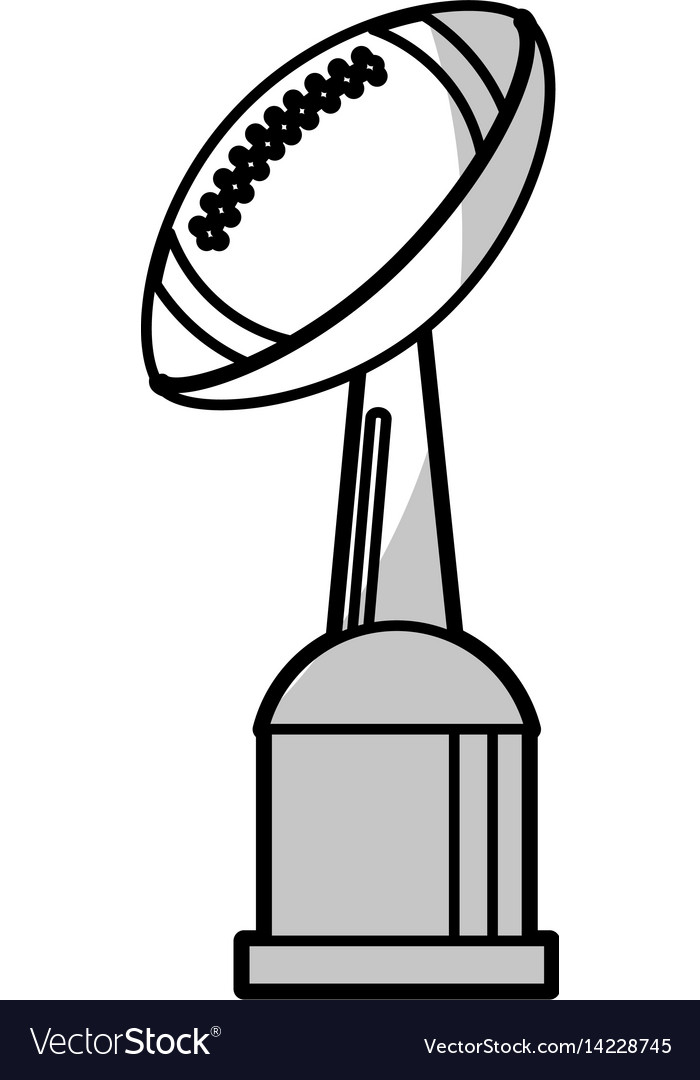 American football winner cup - shadow vector image