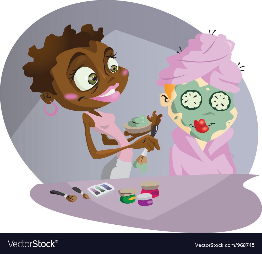 Make up artist vector image