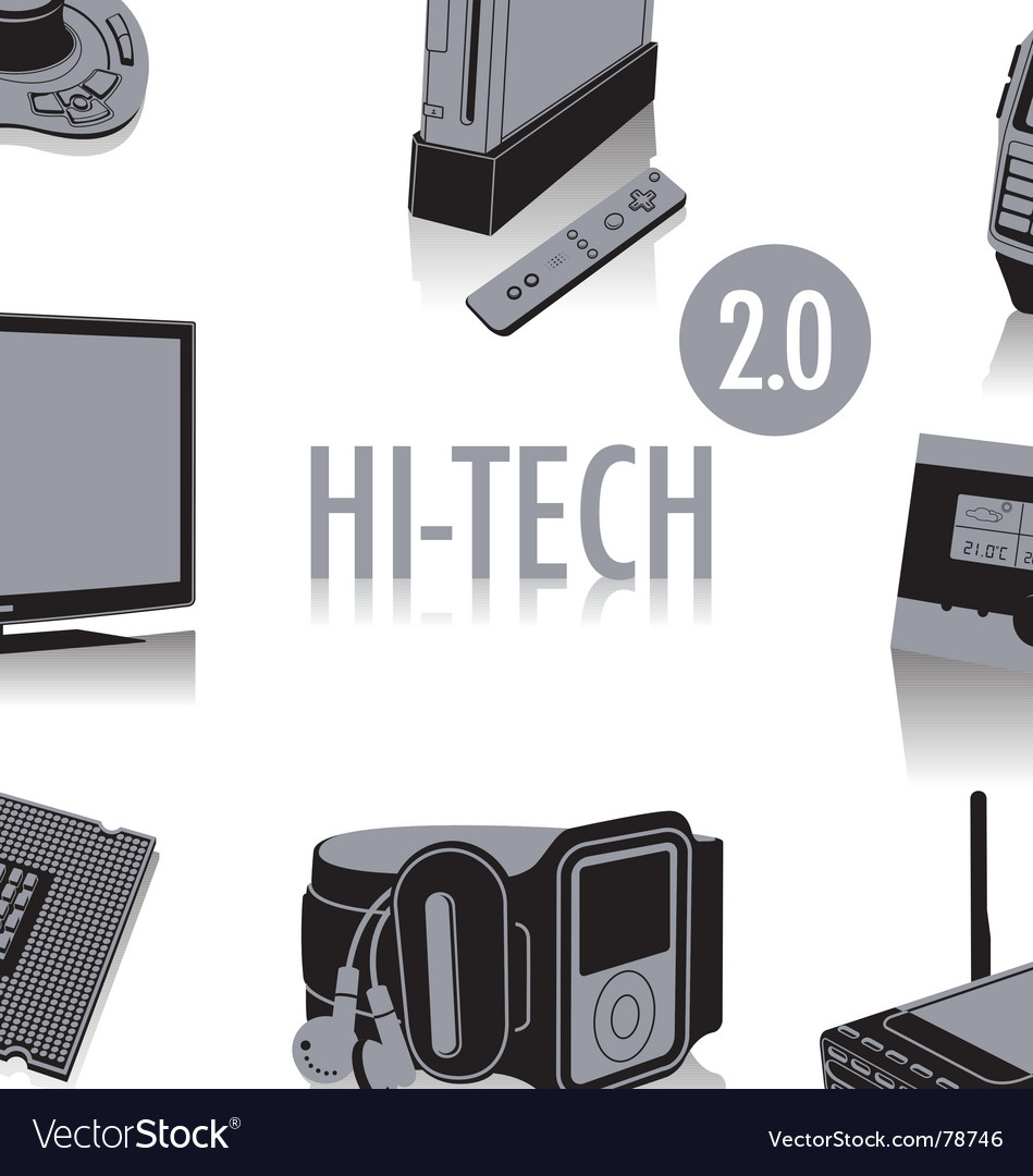 High tech silhouettes vector image