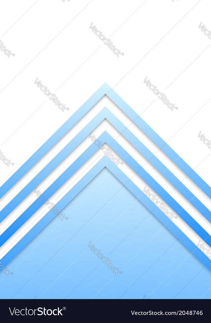 Blue border arrow lines background vector image