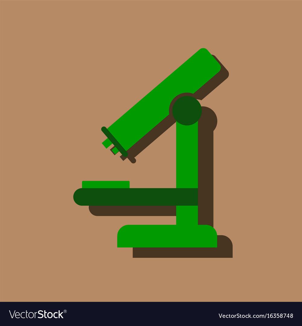 yellow microscope flat icon