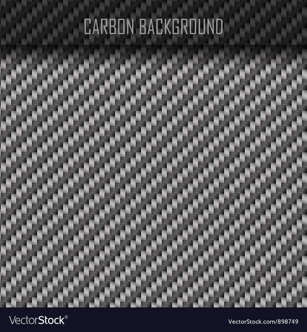Carbon Carbon fiber background vector image