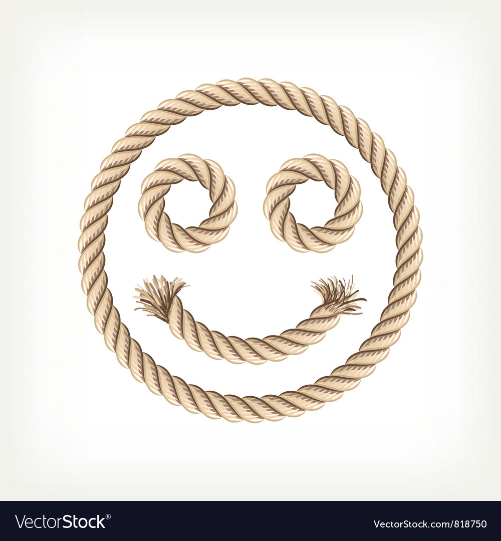 Rope smiley vector image
