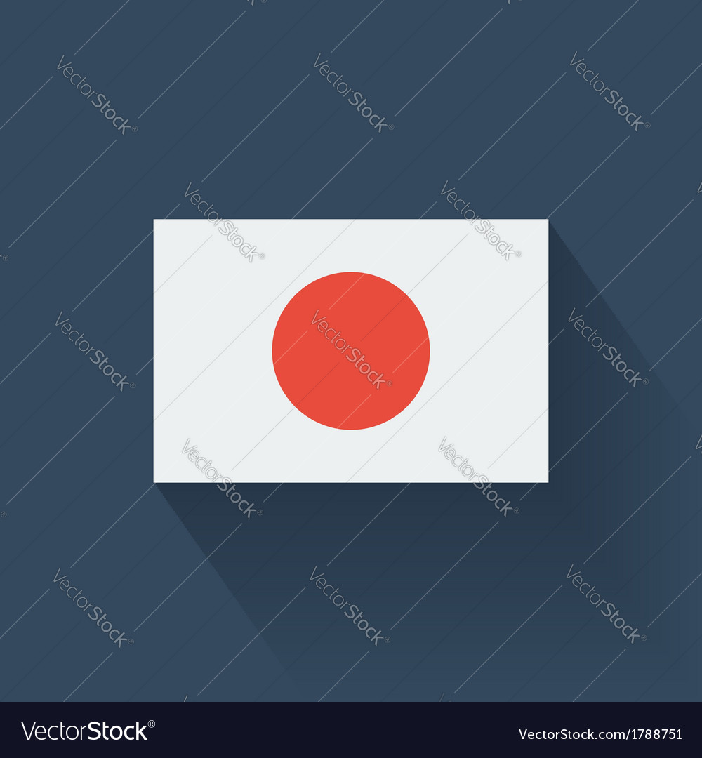 Flat flag of Japan vector image