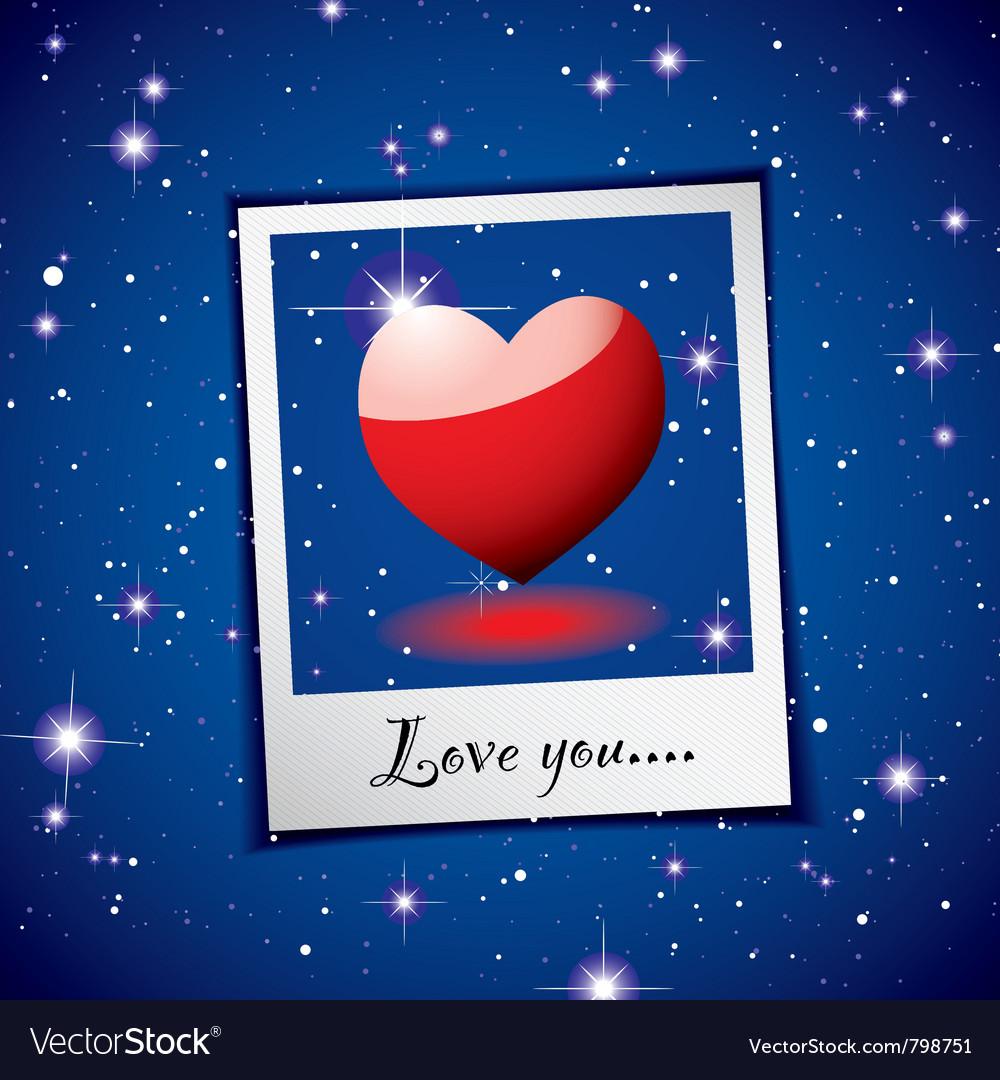 Love heart concept vector image