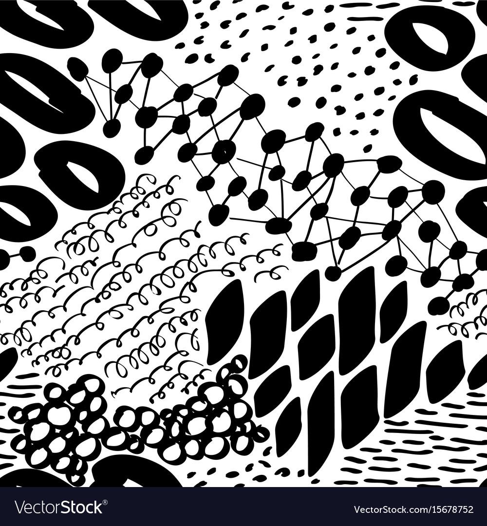 Complex hand drawn circles and dots vector image