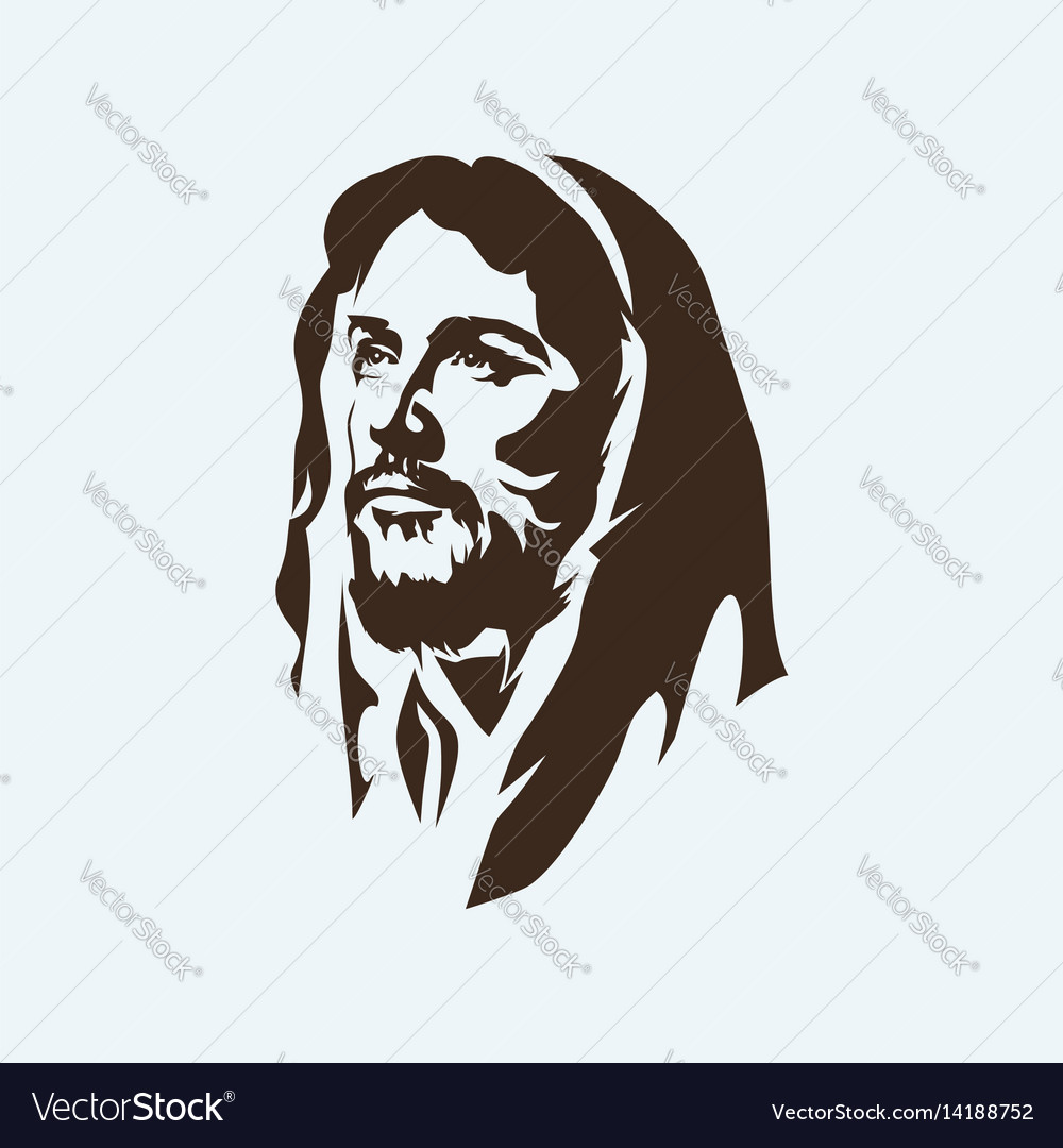 Face of the lord jesus christ vector image