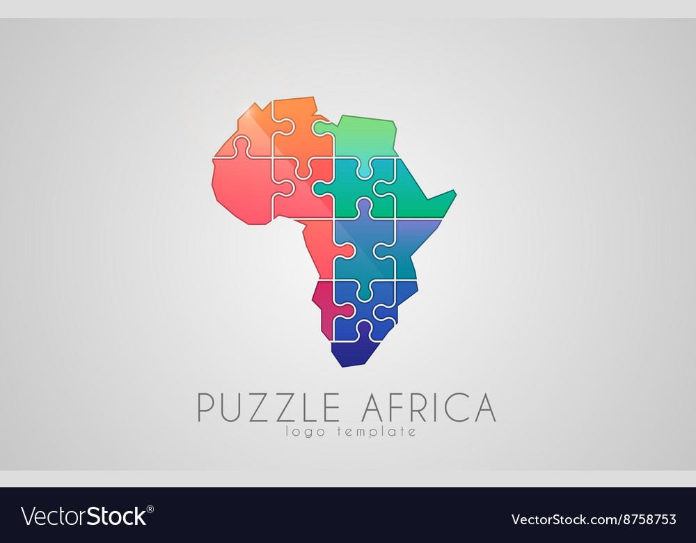 Puzzle africa map of africa africa logo royalty free vector puzzle africa map of africa africa logo vector image gumiabroncs Choice Image