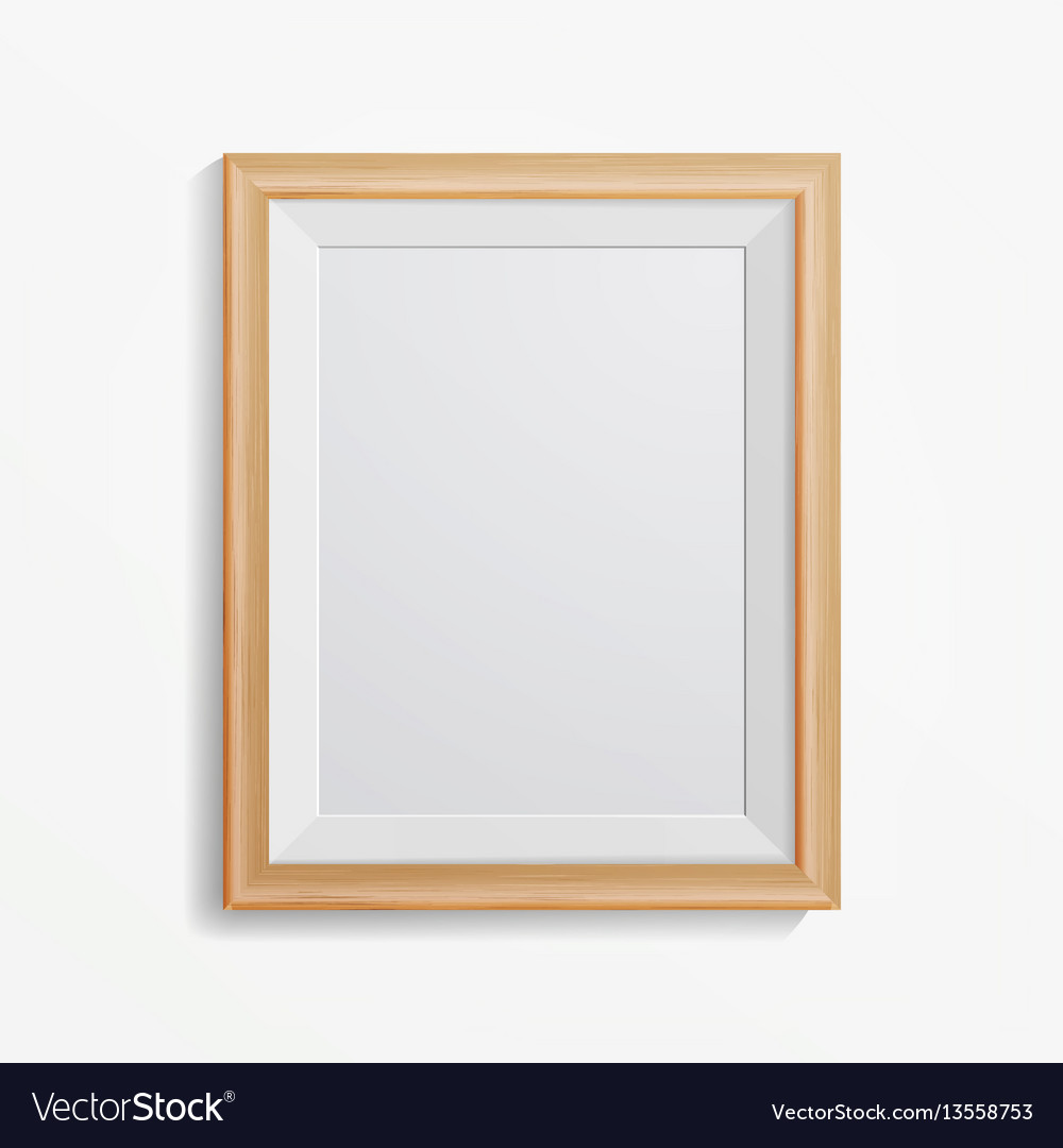 Realistic photo frame with soft shadow Royalty Free Vector