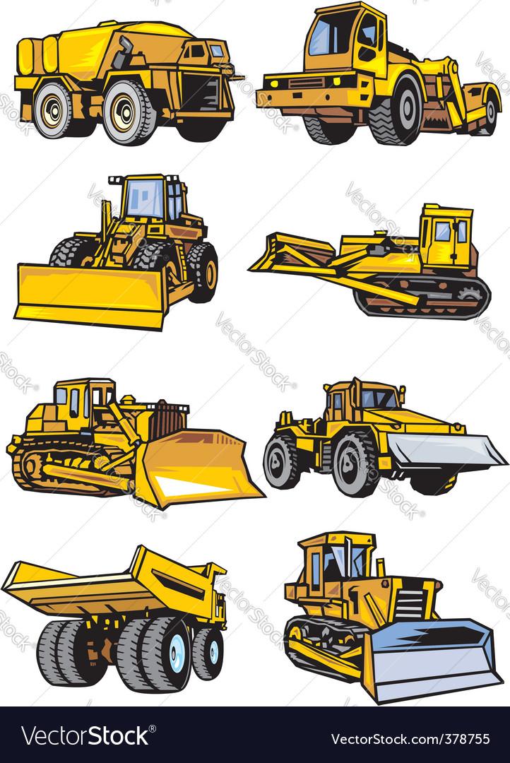 Lorries vector image