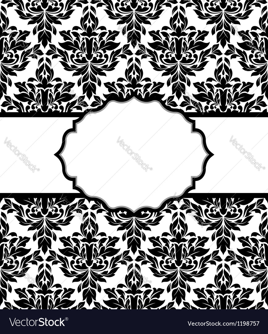 Seamless background with decorative elements vector image