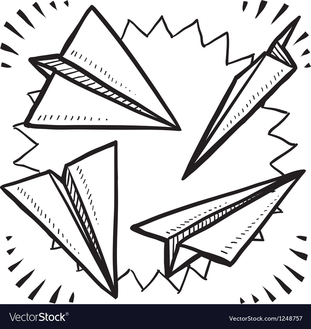 Paper planes vector image