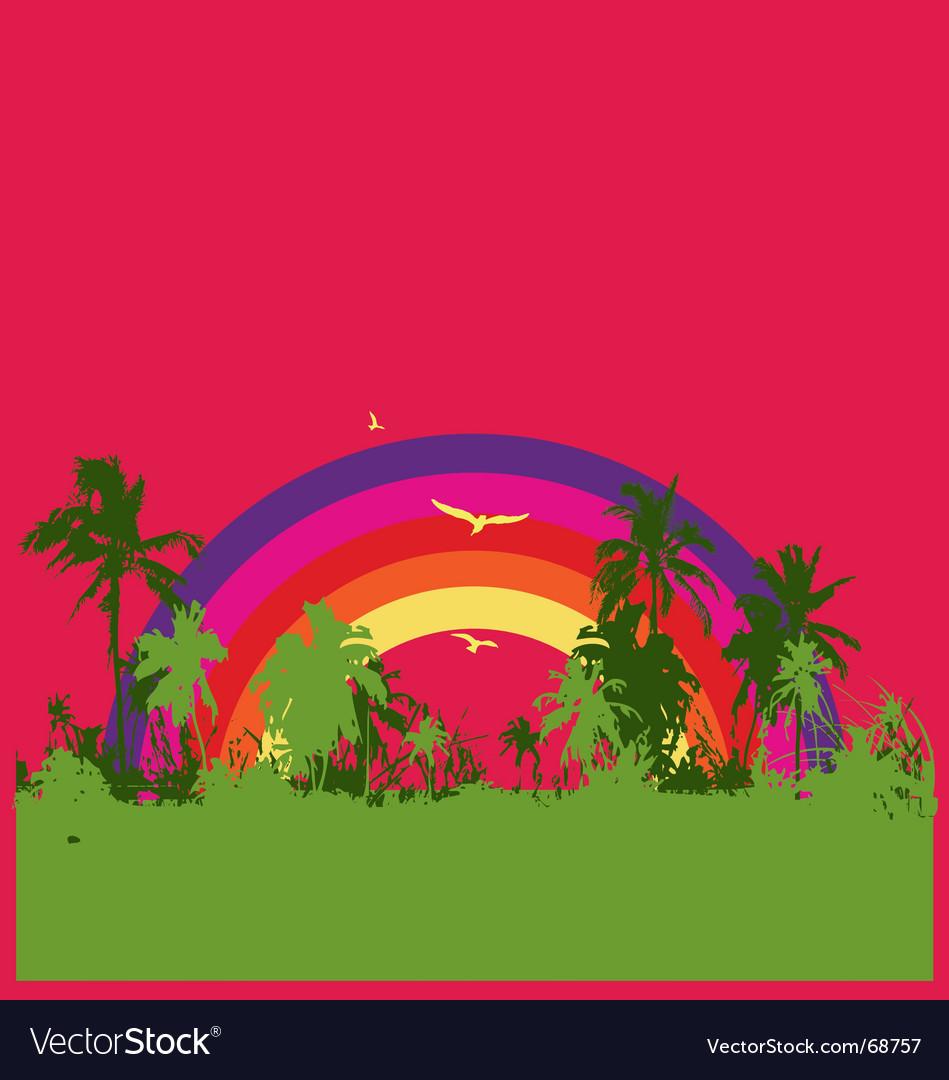 Tropical rainbow vector image