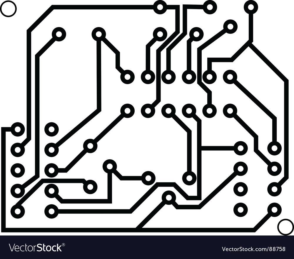 Electrical scheme Royalty Free Vector Image - VectorStock