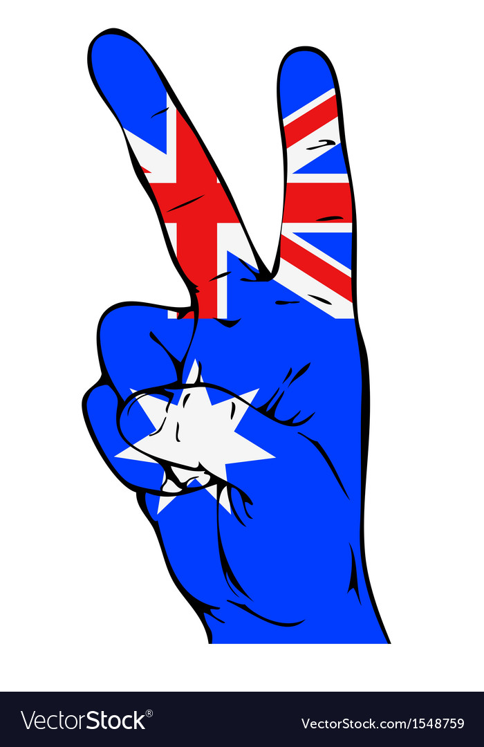 Peace sign with Australian flag vector image
