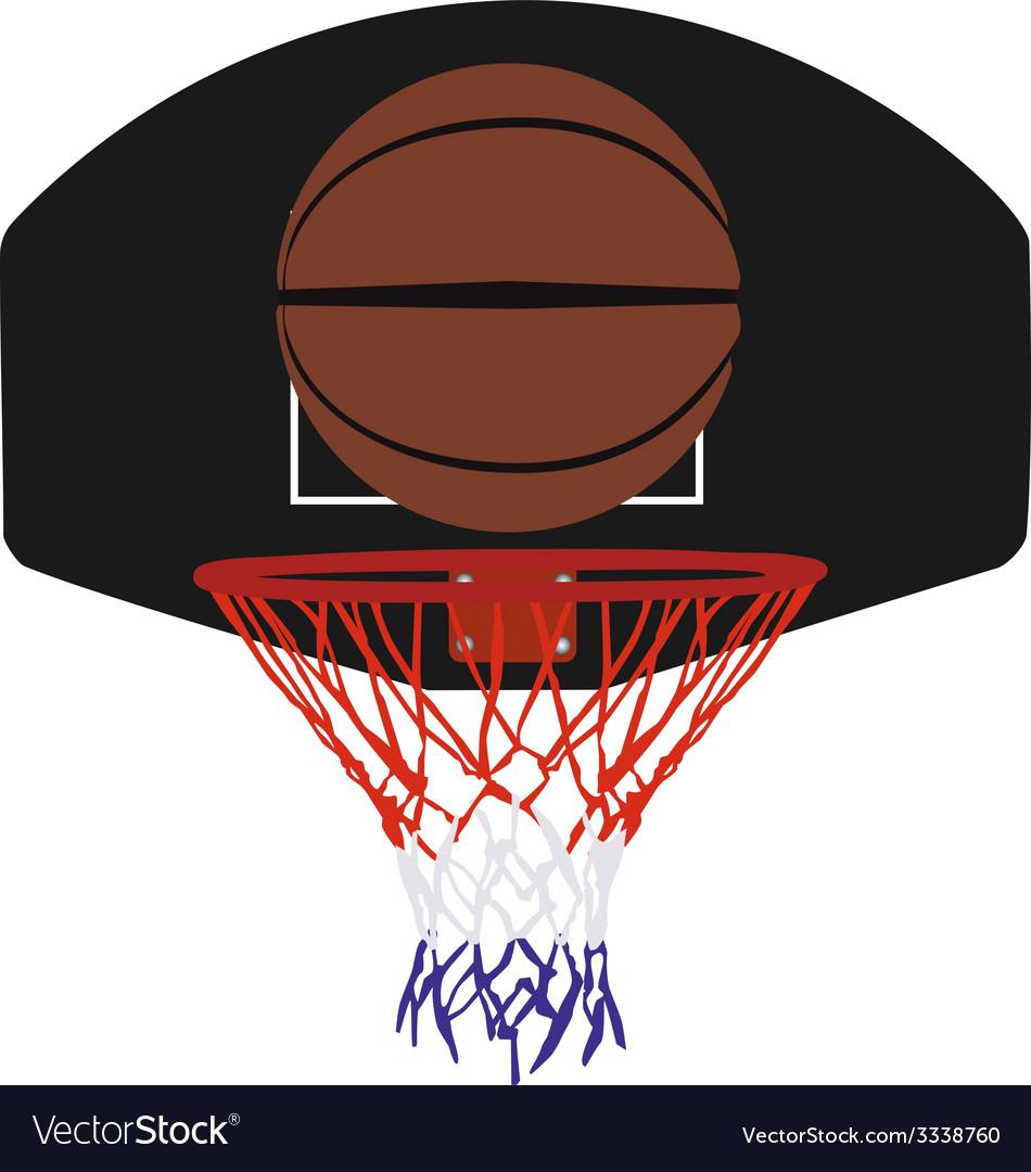 Basketball basket and ball vector image