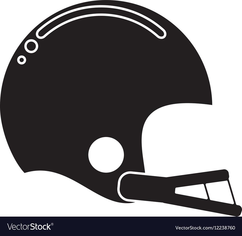 Silhouette american football helmet sport vector image