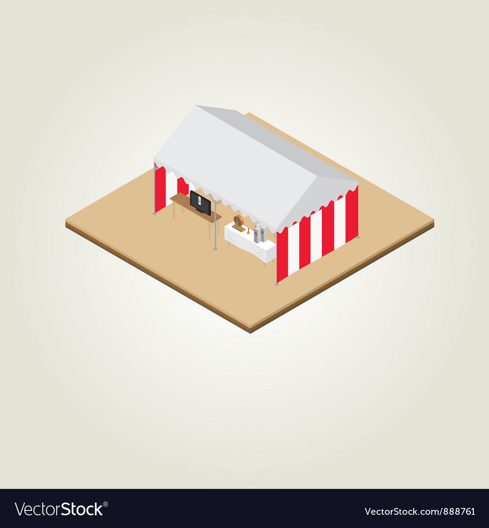 Isometric fukubiki lottery vector image