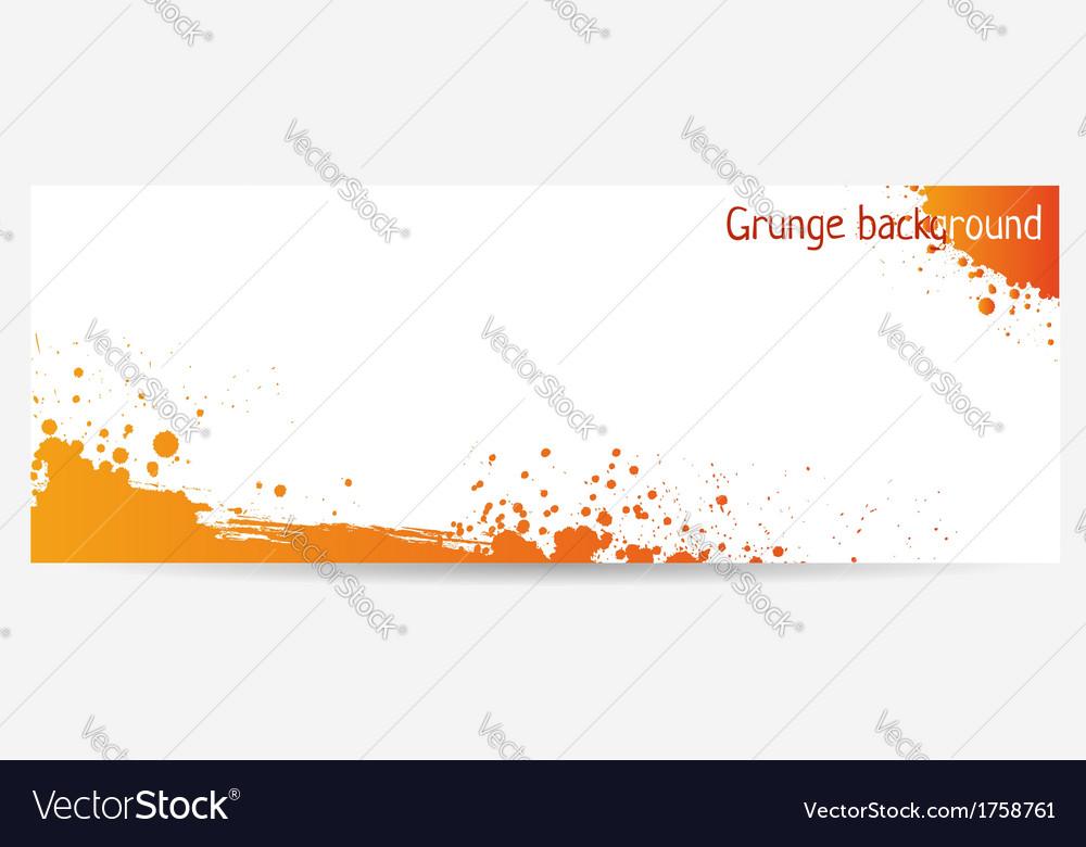 Orange grunge vector image
