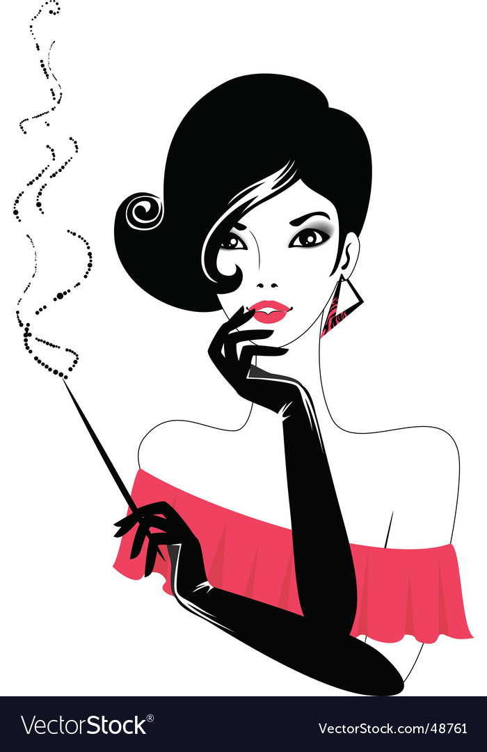 Retro lady vector image