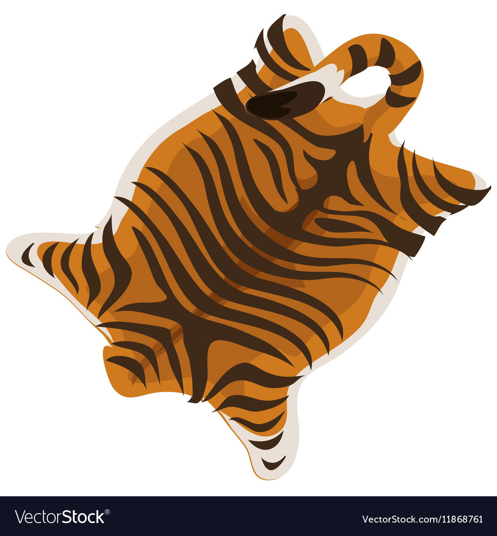 Tiger skin as a carpet vector image
