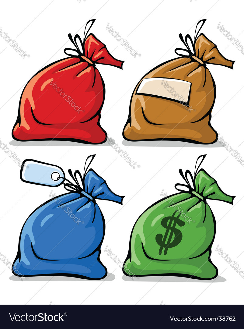 Sacks with labels Vector Image
