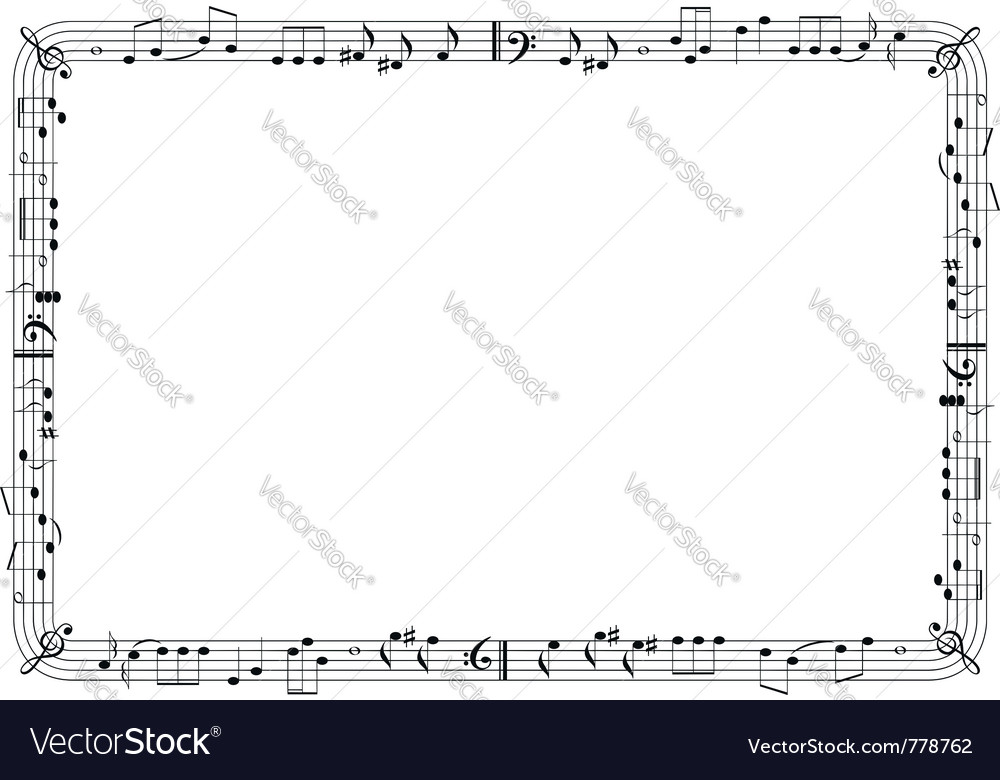 Musical graphic frame vector image