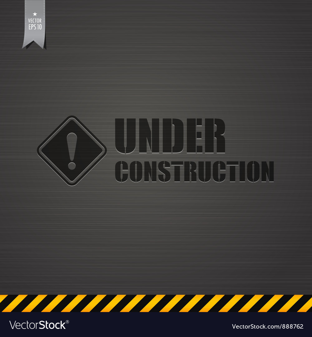 Under construction template background vector image