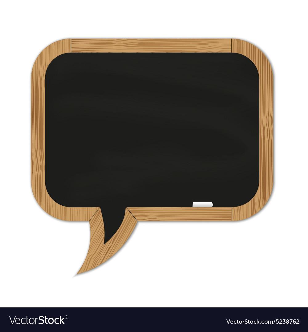 Black rounded chalkboard vector image