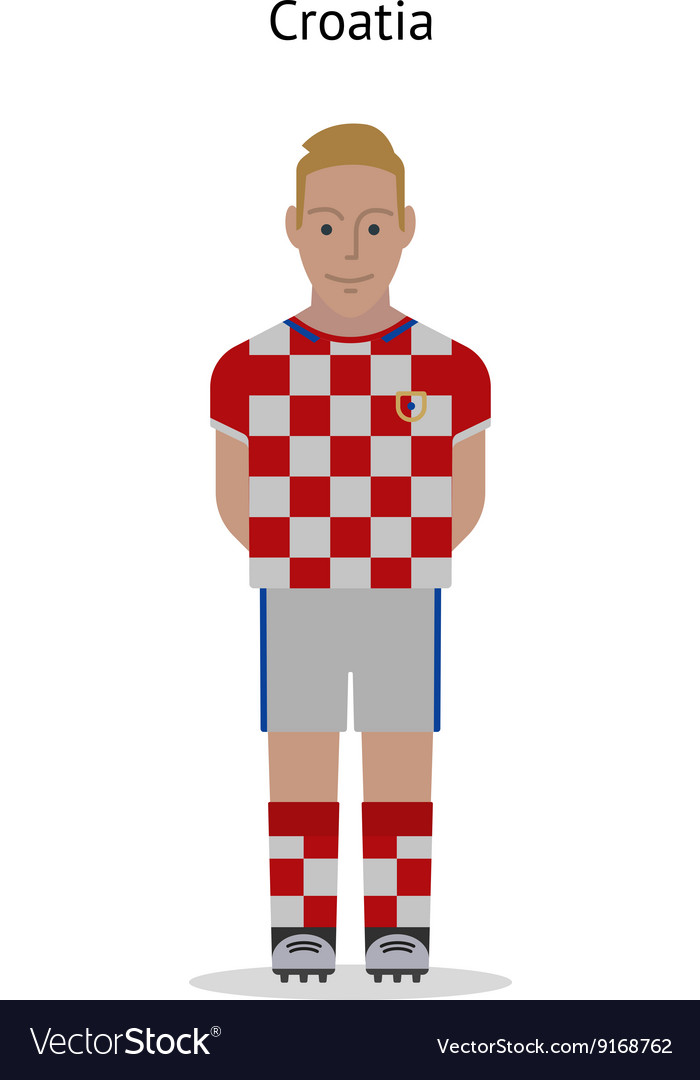 Football kit Croatia vector image