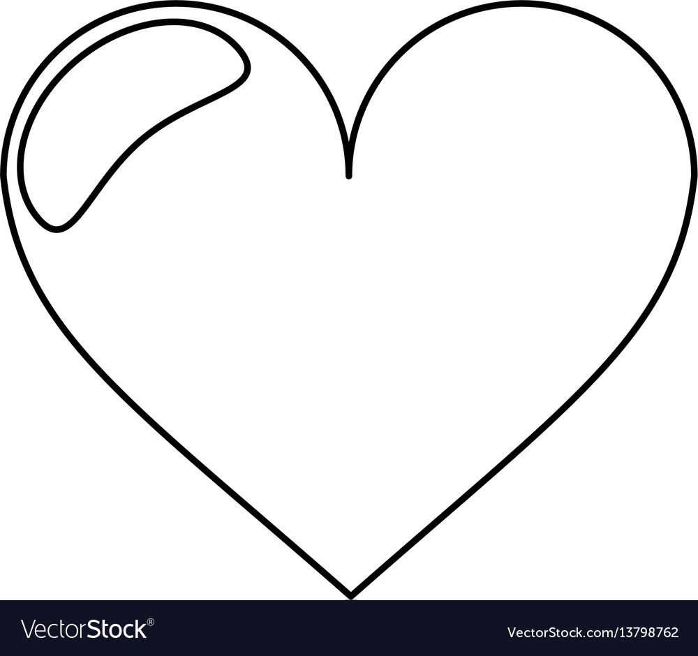 Heart love romantic outline royalty free vector image heart love romantic outline vector image buycottarizona Image collections