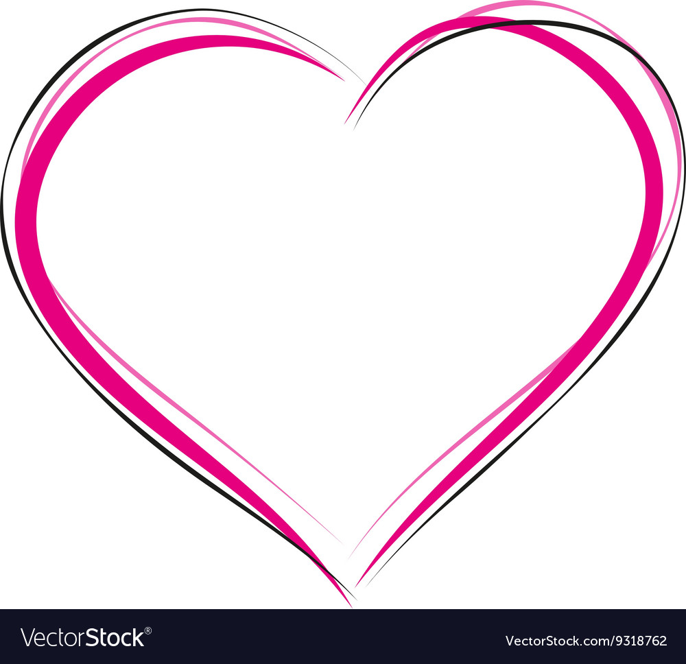 Heart symbol of love sign of heart outline heart vector image buycottarizona Image collections