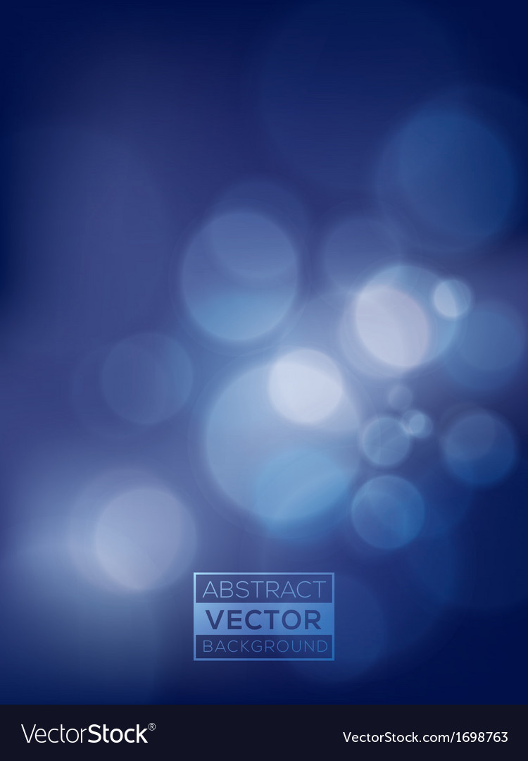 Abstract blue Bokeh Background soft blurry vector image