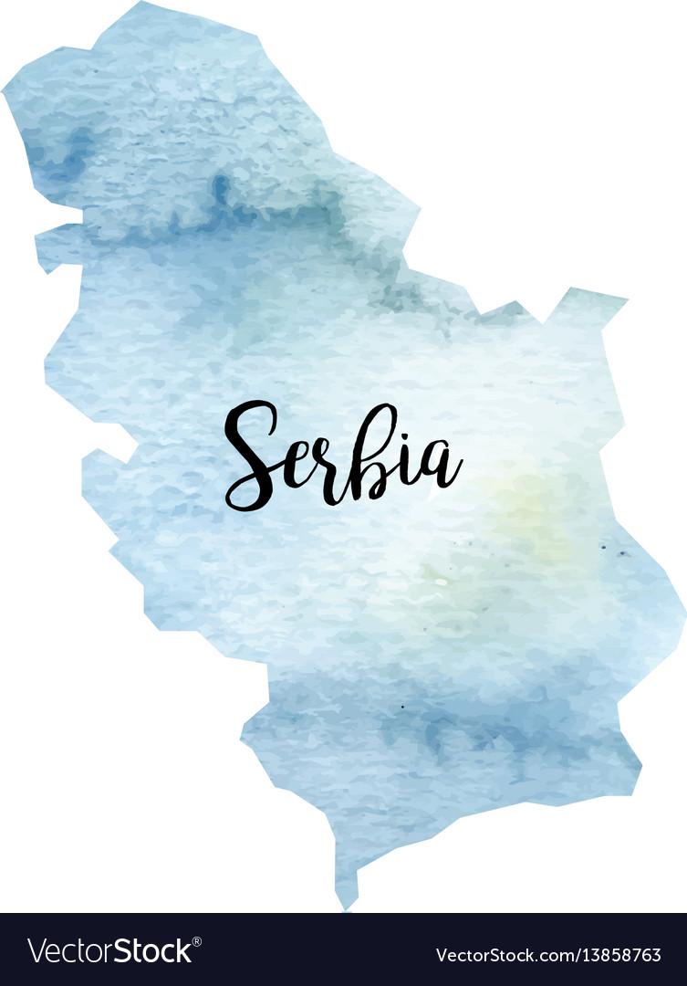 Abstract serbia map vector image