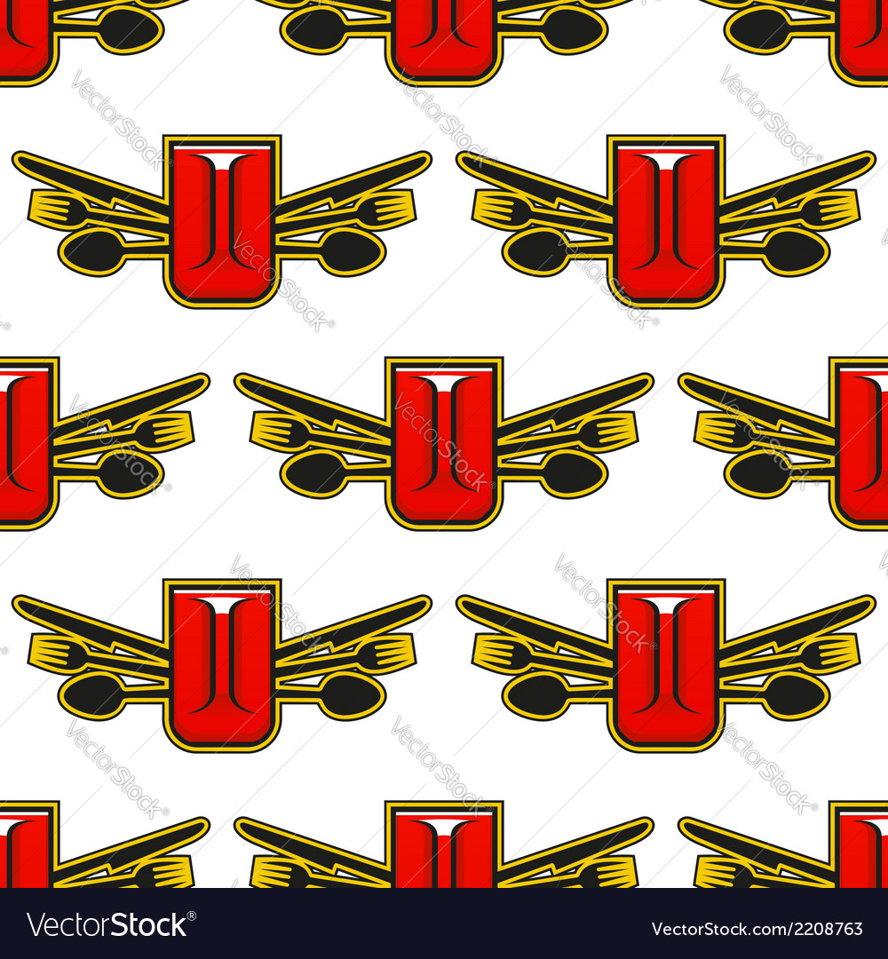 Catering or restaurant seamless pattern vector image