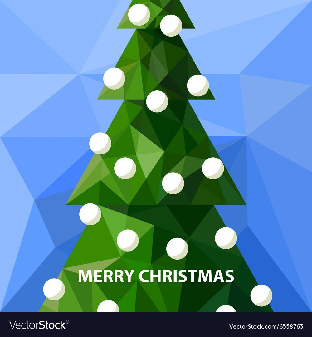 Low poly christmas tree vector image