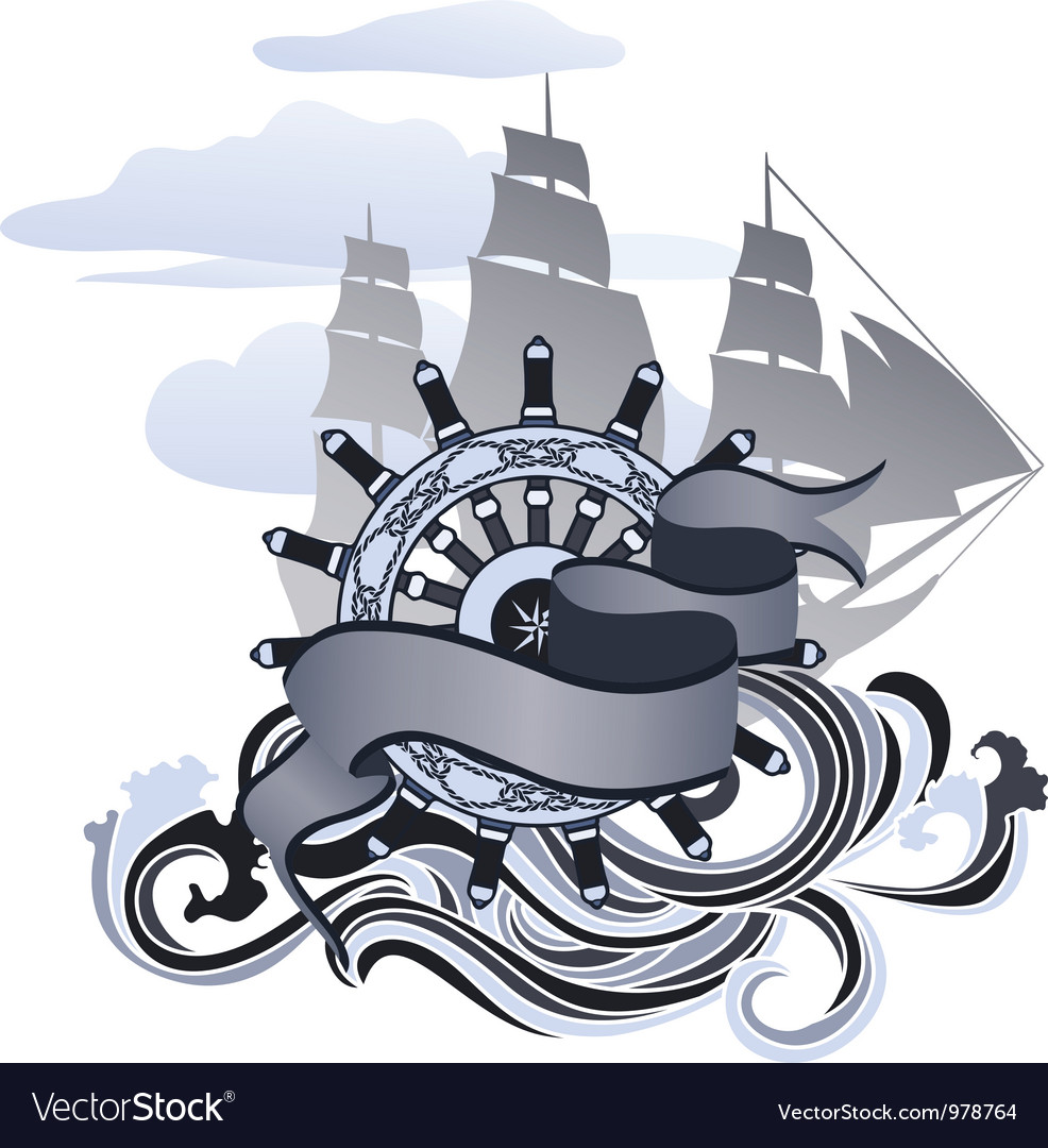 Sea design vector image