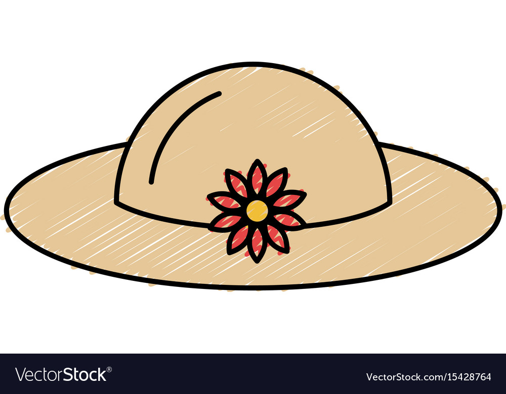 Summer female hat icon vector image