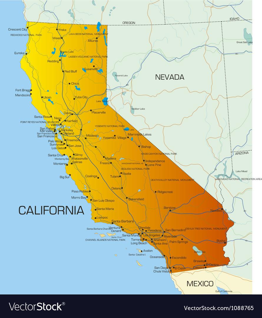 California vector image