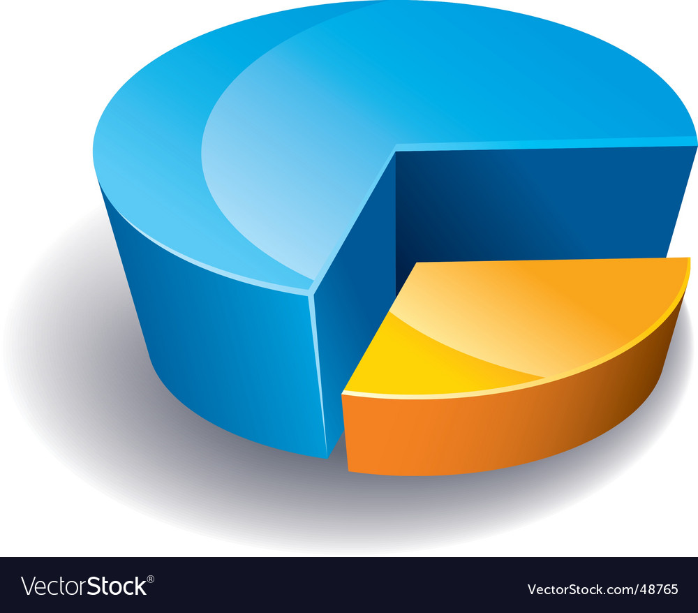 Chart pie vector image