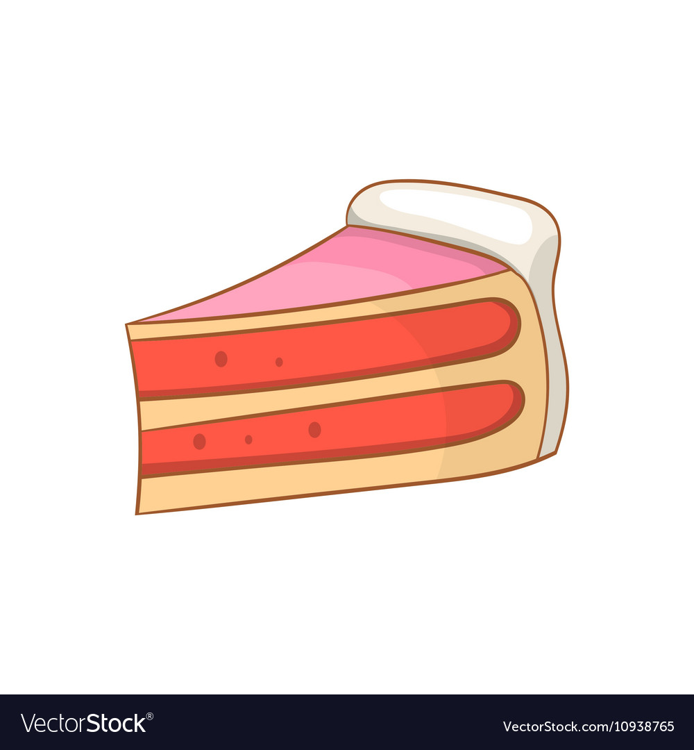 Pumpkin pie slice icon cartoon style vector image
