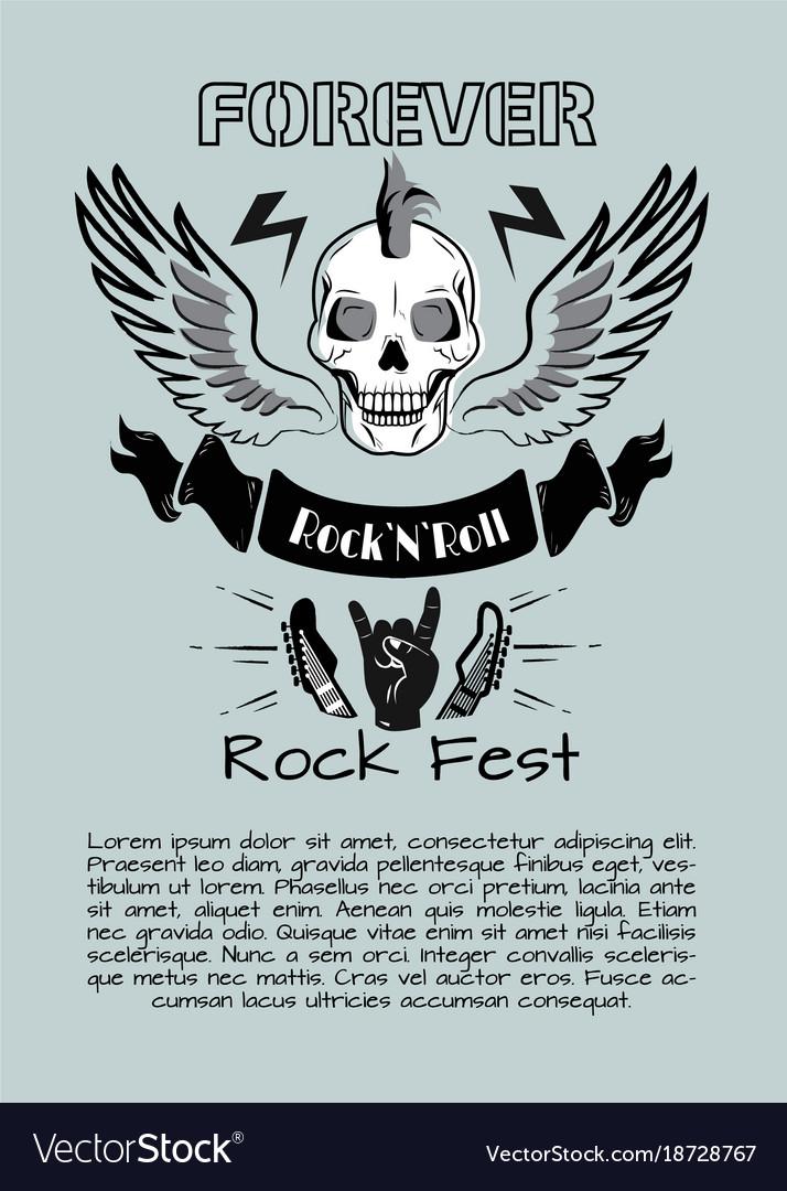 Rock n roll fest forever vector image