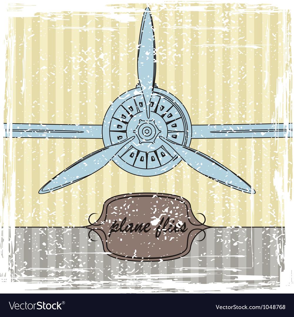 Vintage Plane striped background vector image