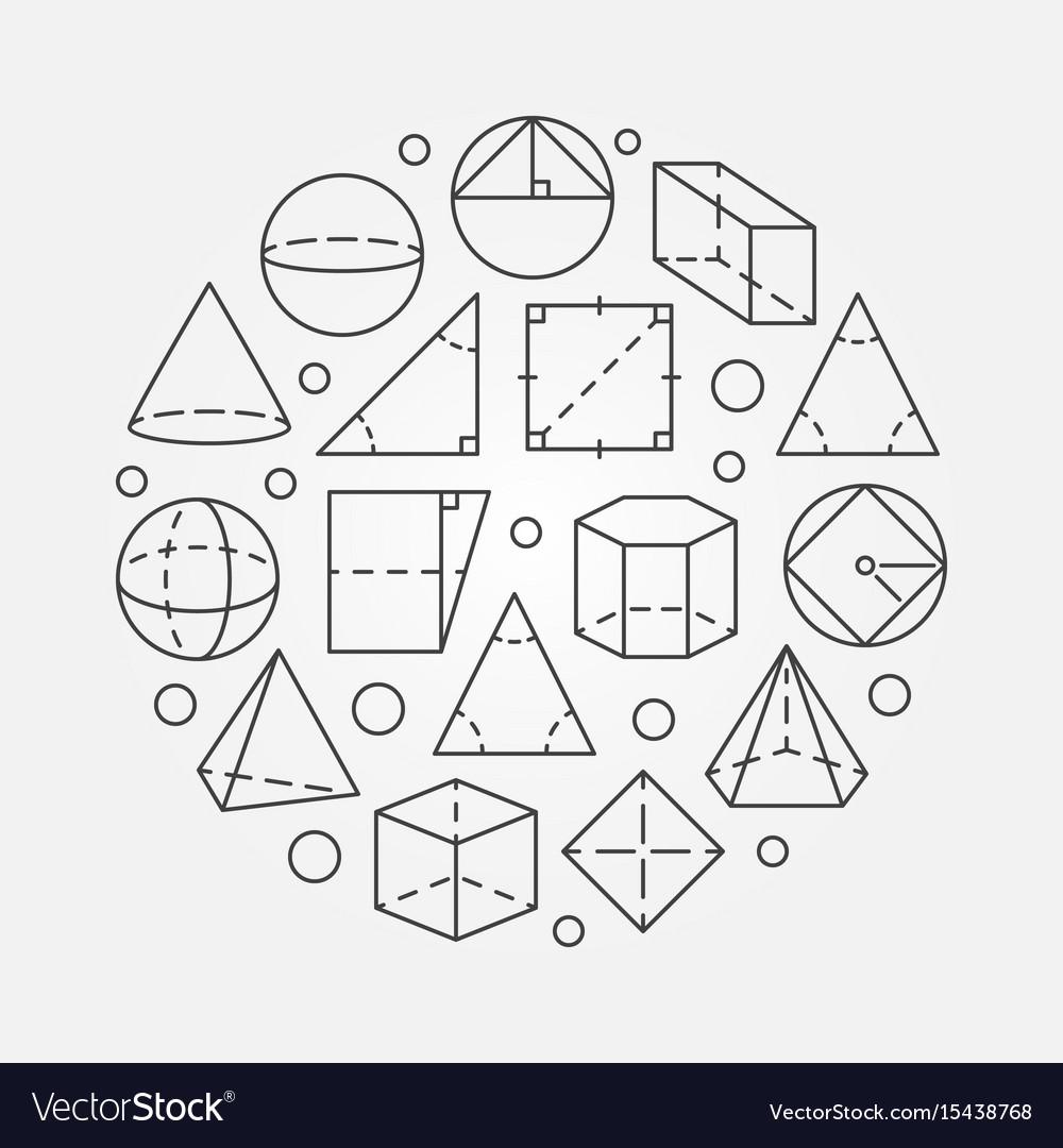 Basic geometry vector image