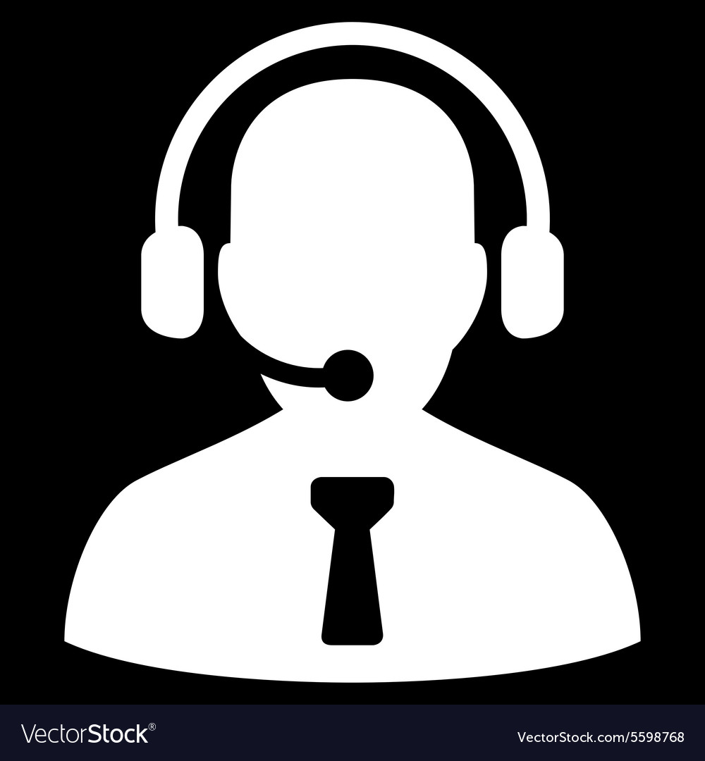 Reception operator icon from Business Bicolor Set vector image