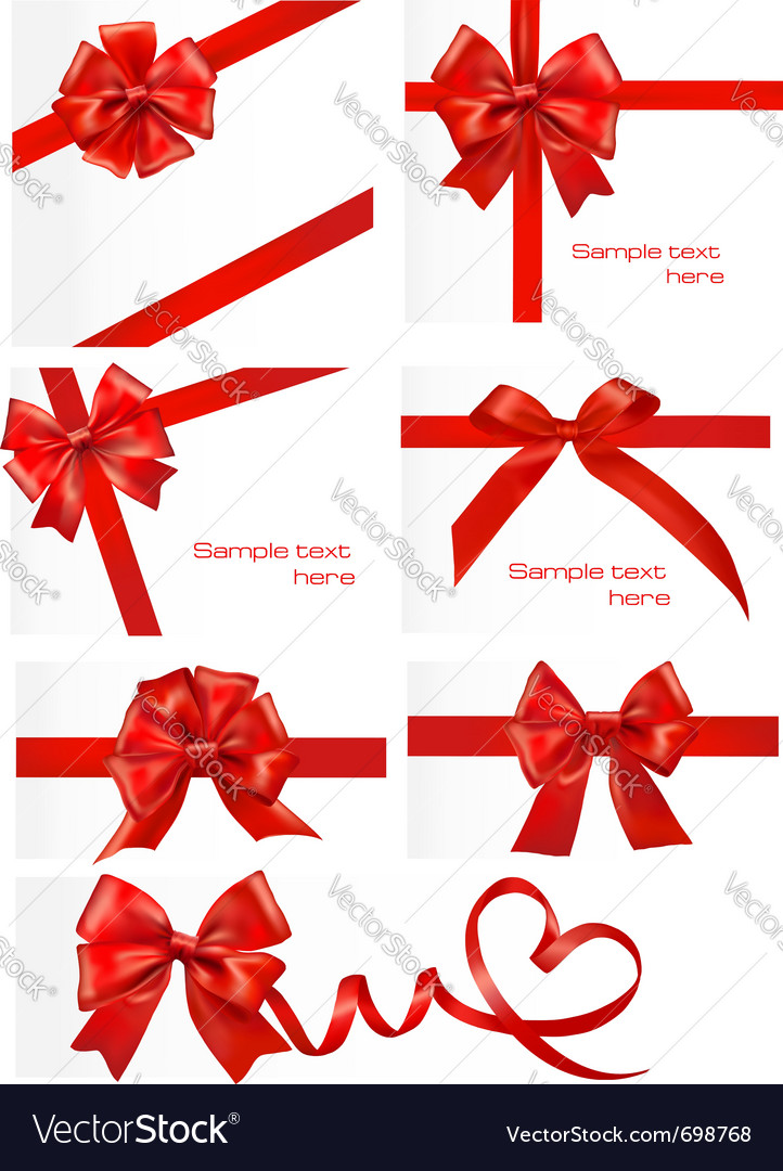 Red gift ribbons royalty free vector image vectorstock red gift ribbons vector image negle Image collections